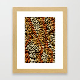 Authentic Aboriginal Art - Grass Framed Art Print