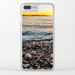 Rocky Shoreline Clear iPhone Case