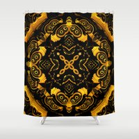 asia Shower Curtains featuring Asia by Lyle Hatch