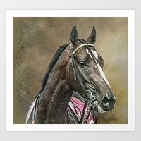 racing Art Prints featuring Racing Thoroughbred by tarrby/Brian Tarr