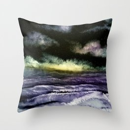 Lavender Waves Throw Pillow