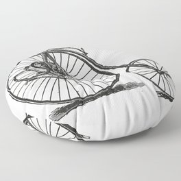 Old bicycle Floor Pillow