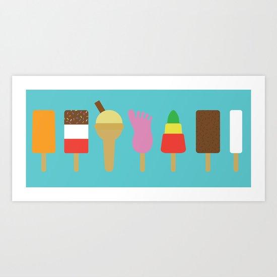 Ice pops Art Print