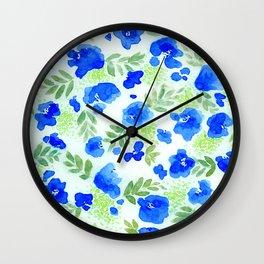 Floret (Blue) Wall Clock
