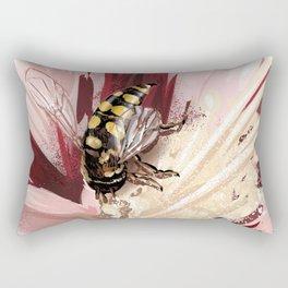 Wasp on flower 7 Rectangular Pillow
