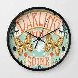 Darling You Shine Wall Clock
