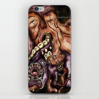 in the flesh iPhone & iPod Skins featuring Parasitic Flesh by Daniel Garrett's Fantasy Art Studio