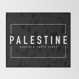 Palestine x Minimalist Throw Blanket