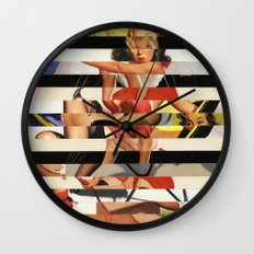 Glitch Pin-Up Redux: Lindsey Wall Clock