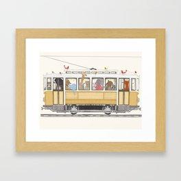 a city adventure Framed Art Print