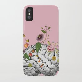 Brain Flowers Collage iPhone Case