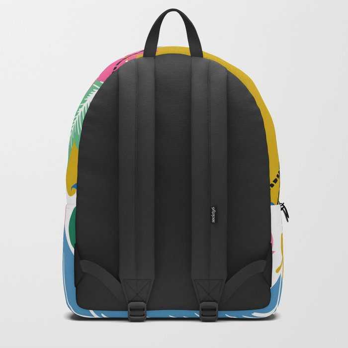 Feathers and leafs Backpack