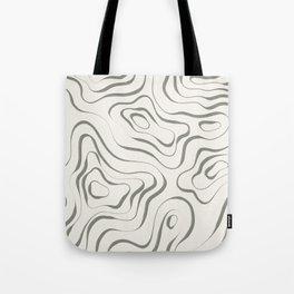 Topographic Map / Grayish Yellow on Cream  Tote Bag