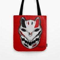 werewolf Tote Bags featuring WereWolf by FWAETI