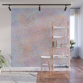 Modern teal pink gold yellow watercolor splatters Wall Mural
