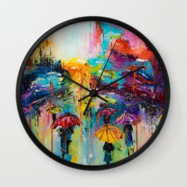 RAIN FALL DOWN Wall Clock