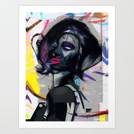Seduced by colour Art Print