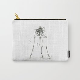 Martian Tripod Queen, Black and White Carry-All Pouch
