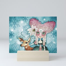 Noelle's Winter Magic Mini Art Print