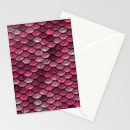 Pink Shiney Mermaid Scales Stationery Cards