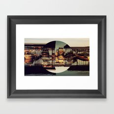 MARINA, INVERTED CIRCLE. Framed Art Print