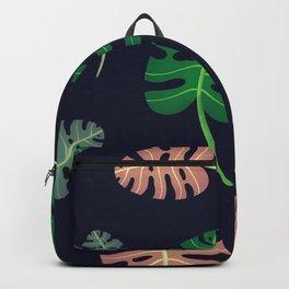 Leafy Monstera Pattern Backpack