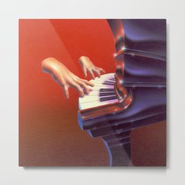 Piano Lessons Can Be Murder Metal Print