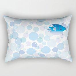 Globefish and Bubble Rectangular Pillow