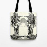 venus Tote Bags featuring VENUS by DIVIDUS DESIGN STUDIO