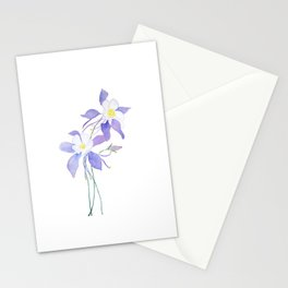 purple columbine flower Stationery Cards