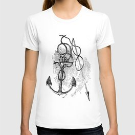 Anchor and harpoon. T-shirt
