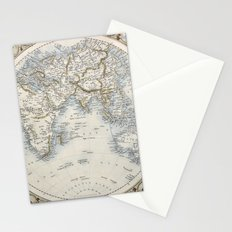 Eastern Hemisphere of the World 1851 Stationery Cards