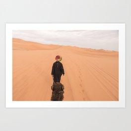 Desert Trek II - Sahara, Morocco Art Print
