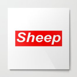 Sheep (iDubbbz Merch) Supreme Metal Print