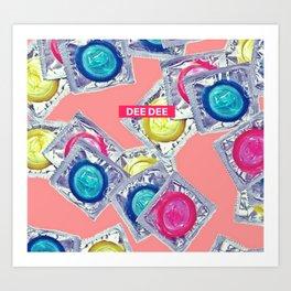 Condom DEE DEE Art Print