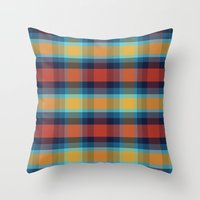 plaid Throw Pillows featuring Plaid by Sierra Neale