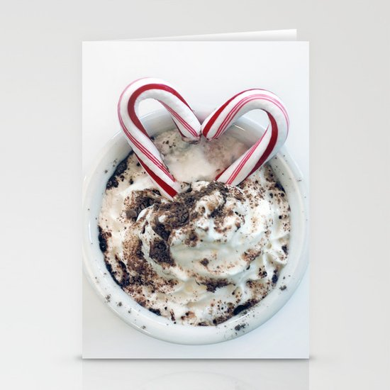i heart hot chocolate Stationery Cards