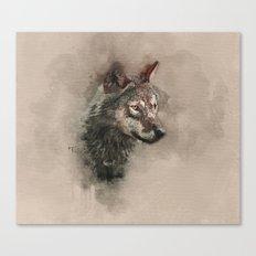 European Wolf Canvas Print