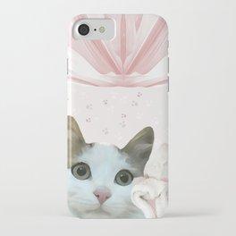 kitten.   pink, cats, pattern, children, pet, feline, animals, Society6. iPhone Case