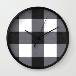 Gingham Dark Style Wall Clock