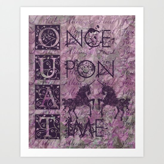 Once Upon A Time - AWESOME TV Show Art Print