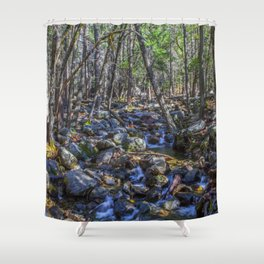 Yosemite Woodland Shower Curtain