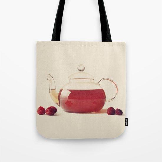 Raspberry Tea (Retro and Vintage Still Life Photography) Tote Bag
