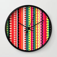 forever young Wall Clocks featuring Forever Young by Ornaart
