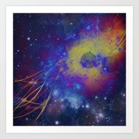 pocket fuel Art Prints featuring Fuel Trails by AbstractAnomaly