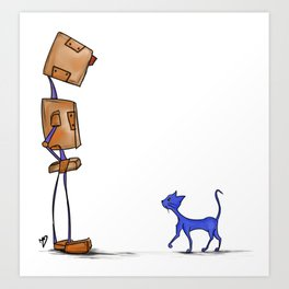 Rob and Cat Art Print