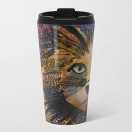 Cool Cat Metal Travel Mug