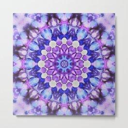 Ultra violet mandala 1 Metal Print