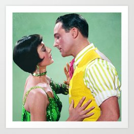 Gene Kelly & Cyd Charisse - Green - Singin' in the Rain Art Print