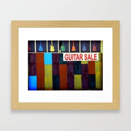 Guitar Sale Framed Art Print